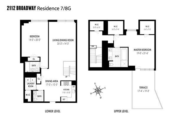 Loft su due piani upper west side new york homenew york home for Piani di costruzione loft