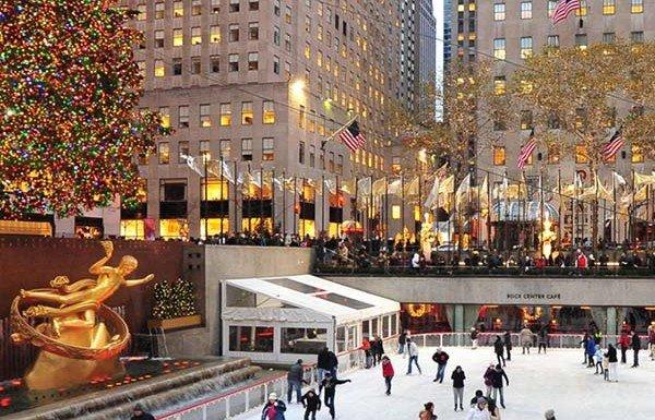 Pattinare sul ghiaccio a Manhattan